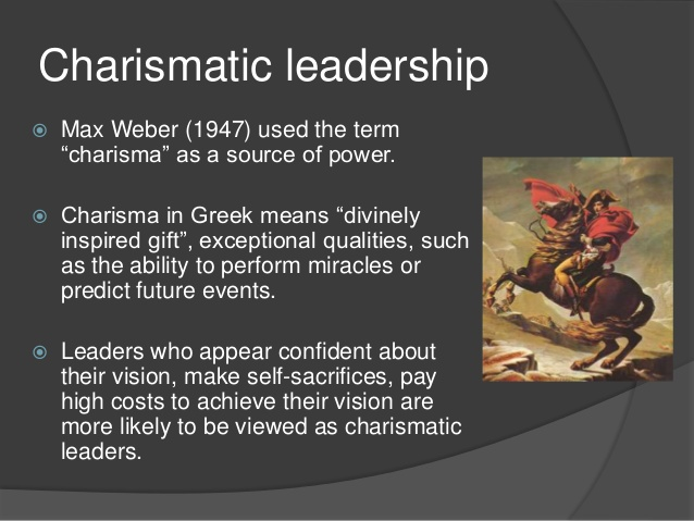 charisma and leadership essay Max weber, german sociologist, introduced the concept of social authority into sociology and defined three main types of it: traditional, rational and charismatic.